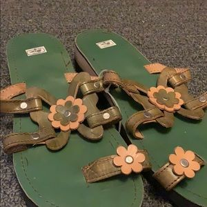 Mexican huaraches sandal flower floral leather